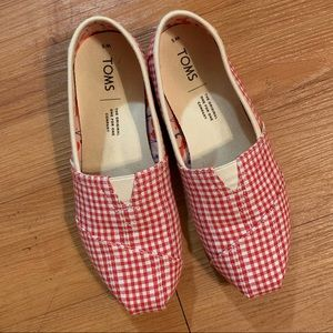 NWOT Checkered Canvas Toms